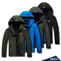 HeHa-男女款機能防水防風連帽外套 四色