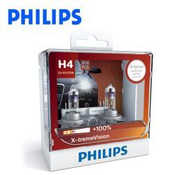 PHILIPS 飛利浦 車燈 超極光+亮100% X-tremeVision(公司貨)