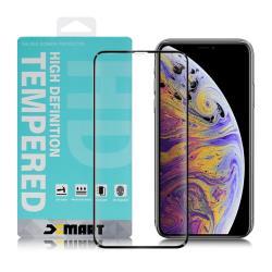 Xmart for iPhone 11 Pro / iPhone Xs / iPhone X 用 高透光2.5D滿版玻璃貼-黑 2入