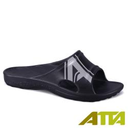 【ATTA】 足底均壓★潮感個性足弓拖鞋-黑灰