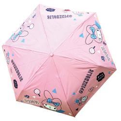 迪士尼Disney 美樂蒂Melody 正版授權 抗UV自動黑膠晴雨傘