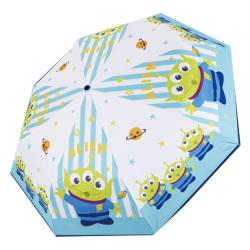 迪士尼Disney 三眼怪 正版授權 抗UV自動黑膠晴雨傘