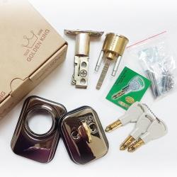 SH2206-UP 金冠GOLDENKING 黑鈦金色 輔助鎖60MM 火箭式鑰匙 門鎖 門閂 木門 鋁合金門 硫化銅門