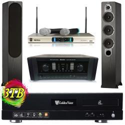 金嗓 CPX-900 S2+ 電腦伴唱機 3TB+AK-800擴大機+MR-3000D IV無線麥克風+S428主喇叭