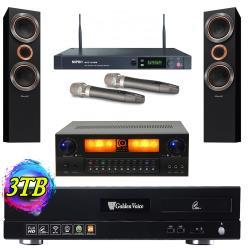 金嗓 Golden Voice CPX-900 S2+電腦伴唱機3TB+KARMEN X6擴大機+ACT-2489無線麥克風+S-RS55TB主喇叭