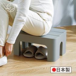 日本霜山 日製防滑耐重浴室/戶外多用途腳踏坐凳