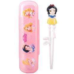 迪士尼公主白雪公主兒童學習筷練習筷筷子環保餐具組附收納盒 007760【卡通小物】