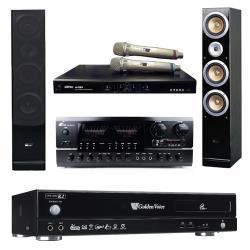 金嗓 Golden Voice CPX-900 R2卡拉OK點歌機4TB+AK-898擴大機+MI-889無線麥克風+QX900F主喇叭