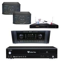 金嗓 Golden Voice CPX-900 R2電腦伴唱機 4TB+AK-700擴大機+R-666無線麥克風+SP-899 主喇叭