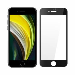 【SHOWHAN】iPhone SE2/7/8 高清亮面全膠滿版鋼化玻璃保護貼  黑色