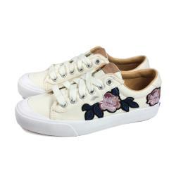 Keds CREW KICK 75 APPLIQUE 休閒鞋 帆布 米色 花卉貼布 女鞋 9202W122929 no334