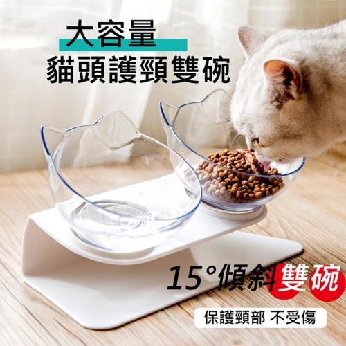 JAR嚴選-大容量貓頭護頸雙碗/