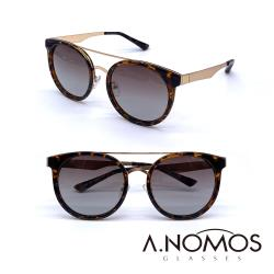 【A.NOMOS】70年代龐克夢|時尚微貓眼偏光太陽眼鏡/墨鏡(6228-茶豹框茶片)