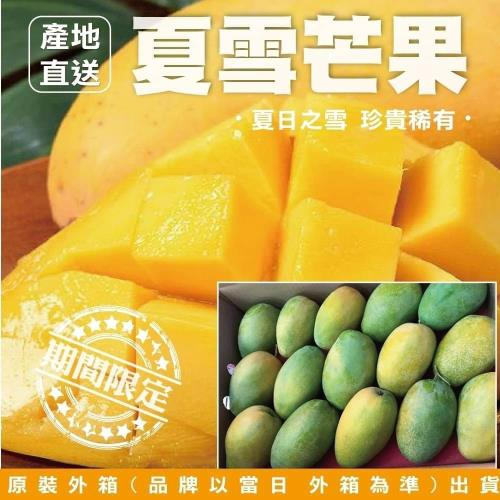 果農直配-台東芒果界LV夏雪芒果(11-13入/約10斤±10%含箱重)