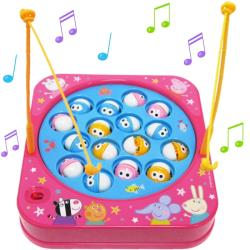 粉紅豬小妹佩佩豬音樂釣魚玩具組 012387【卡通小物】