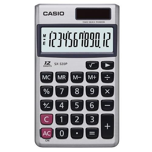 【CASIO】12位數(國家考試專用)攜帶型計算機(SX-320P)/