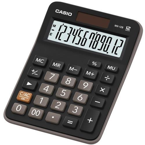 【CASIO】經典實用款商務桌上型計算機(MX-12B)/
