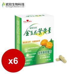 統欣生技 金盞花葉黃素膠囊(30粒/盒)*6盒
