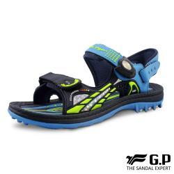 G.P (童) 柔軟PLUS兒童兩用涼拖鞋-藍 (另有桃紅、綠)