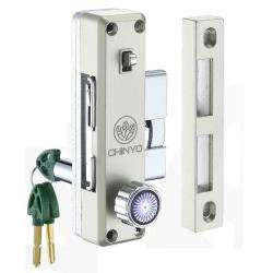580鋁門鉤鎖 青葉牌 1200型鋁門側門鎖(心動鑰匙 鎖心長38mm)側邊鎖 拉門鉤鎖 鋁門鎖 落地門鎖 紗門鎖