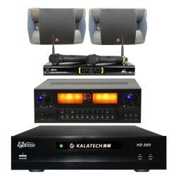 美華 HD-889電腦伴唱機 3TB+KARMEN X6擴大機+OK-9D II無線麥克風+P-500主喇叭