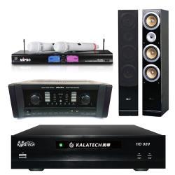 美華 HD-889電腦伴唱機 3TB+AK-800擴大機+MR-198無線麥克風+QX900F主喇叭