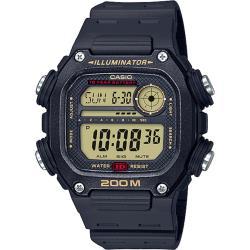 CASIO卡西歐 運動達人數位電子錶-黑X黑框(DW-291H-9A)