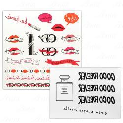 CHANEL 香奈兒 摩登COCO身體轉印貼紙+Dior 迪奧 癮誘超模限量紋身貼紙
