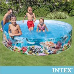 INTEX 免充氣幼童戲水游泳池244x46cm(2040L) 適用3歲+ (58472)