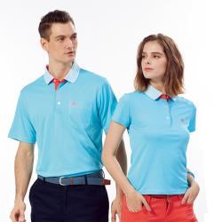 Abel Foxs Sports藍色線條領男版短袖POLO衫-WER504-05