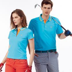 Abel Foxs Sports藍色橘邊男版短袖POLO衫-AFQ104-05