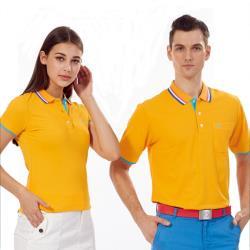 Abel Foxs Sports橘黃色藍邊男版短袖POLO衫-AFQ103-02