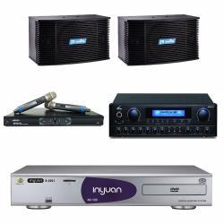 音圓 S-2001 N2-120伴唱機4TB+PMA-328擴大機+MR-865 PRO無線麥克風+K-08卡拉OK喇叭