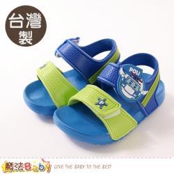 魔法Baby 男童鞋 台灣製POLI正版波力款輕量美型涼鞋~sa01116