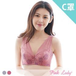 Pink Lady 藍蓮盛放 軟鋼圈薄襯內衣 單件組 (C罩杯,3188)