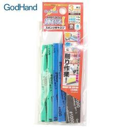 日本GodHand神之手中番數3mm海綿砂紙綜合5入GH-KS3-A3B(600番/800番/1000番)台灣公司貨