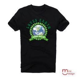 Minidesign-LOVES EARTH環保小綠人潮流設計短T 五色