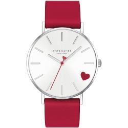 COACH 經典款愛心時尚腕錶/紅色/36mm/CO14503515