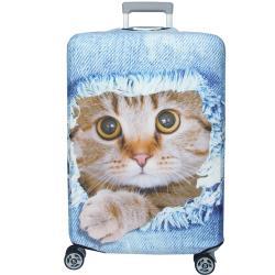 新款拉鍊式行李箱防塵保護套 行李箱套(躲貓貓29-32吋)