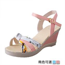 【Alice 】 (預購)  獨家價優雅美腿坡跟涼鞋