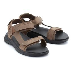 Timberland男款咖啡色休閒涼鞋A1VVYD71