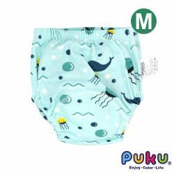 PUKU藍色企鵝 棉柔學習尿布褲_泡泡小鯨魚 (M)