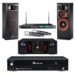 金嗓 CPX-900 R2 電腦伴唱機 4TB+A-450 擴大機+ACT-869 PRO 無線麥克風+XLS-12 主喇叭