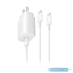 Samsung三星 原廠 25W 快充旅充組【支援Note 10/10+】快充充電器+雙USB C傳輸線