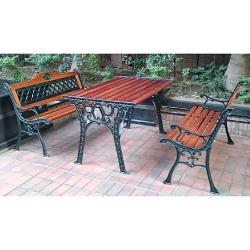 BROTHER 兄弟牌玫瑰雙人鑄鐵公園椅(附椅背)或花網雙人鑄鐵公園椅+鑄鐵公園桌一桌二椅組