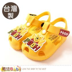 魔法Baby 男女童鞋 台灣製迪士尼小熊維尼授權正版輕量美型涼鞋~sd3071