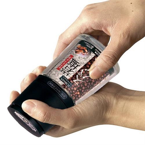 【ASVEL】FORMA黑胡椒/海鹽陶瓷刀研磨罐-140ml(廚房收納 料理烘培 玻璃 調味瓶 調味罐)