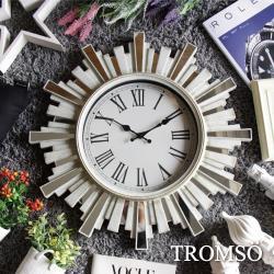 TROMSO-法式香榭_雅典陽光刷白鏡飾時鐘