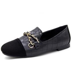 【Alice 】 (預購) 輕柔典雅金鍊樂福鞋