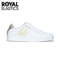 Royal Elastics 女-Icon Genesis 真皮運動休閒鞋-黃白(91901-300)
